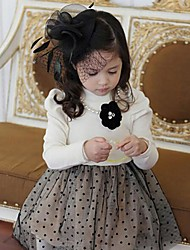 vestidos de moda las flores de la muchacha de los vestidos de invierno encantadora princesa