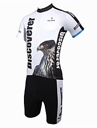 ILPALADINO Cycling Jersey with Shorts Men's Short Sleeves Bike Clothing Suits Quick Dry Ultraviolet Resistant Breathable Polyester