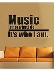 cita de la música jiubai® etiqueta de la pared etiqueta de la pared