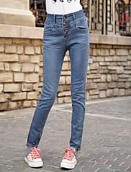donne più grandi dimensioni ad alta vita magro jeans sottili