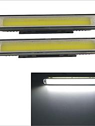 Carking 9-32V Waterproof 6W COB LED Cool White Light Car Daytime Running Light (2PCS)