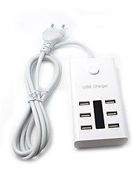 5V 7.2 Amp (36 Watt) 6 Ports Family-Sized Desktop USB Charger for iPhones iPads iPods Samsung Tab Galaxy Phones Tablets