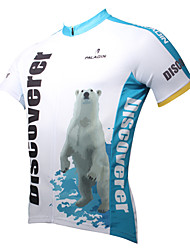ILPALADINO Cycling Jersey Men's Short Sleeve Bike Breathable Quick Dry Ultraviolet Resistant Jersey Tops 100% Polyester Cartoon Animal