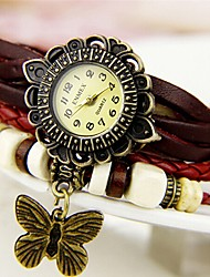 Woli Retro Butterfly Pendant Watch