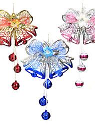 natal decoração arco sino pendurar metal, 50 * 29 * 2cm