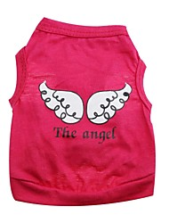 T-shirt-Chien / Chat-Printemps/Automne-Rouge / Vert / Violet Ange et Diable- enCoton