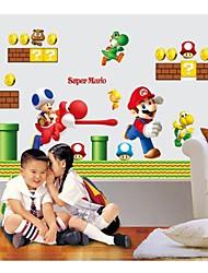 adesivos de parede decalques de parede, super mario decoração irmãos casa de parede kidsroom adesivos de PVC