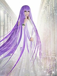 Cosplay Wigs Cosplay Saori Kido Purple Long Anime Cosplay Wigs 100 CM Heat Resistant Fiber Female