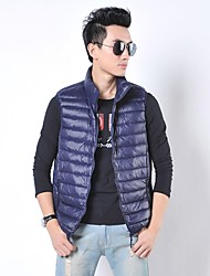 Men's Mock Neck Zip Solid Color Down Vests(More Colors)