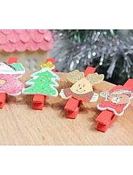navidad carpeta serie de fotos juego de 6 (diseño al azar)
