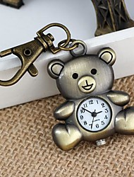 Unisex Lovely Bear-Shaped Alloy Analog Quartz Keychain Watch (1Pc) Cool Watches Unique Watches