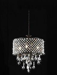 Crystal Chandelier 4 Lights Luxury Chrome Metal.