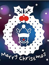 """merry christmas finestra di bel anello renne decorativo adesivo (17.76 """"w × 21.24"""" l)"""