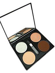 neljä sävy kohokohta kierros jauhe meikki bronzer