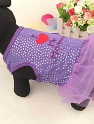 Dog Dress Purple Summer Hearts / Letter & Number Wedding / Cosplay
