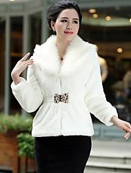 Fur Coats Fur Jacket Women's Fashion Slim Fur Jacket (More Colors)