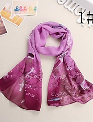 Women's Fashion Magpie Flowers ChiffonScarf