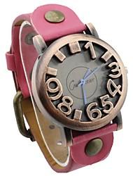 moda do vintage relógio de pulso dos temperamento yun yun mulheres