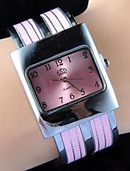 herrlichen Frauen einfach monochromes Quadrat Armbanduhr