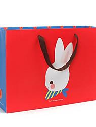 padrão lindo coelho sacos de presente vermelho