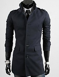 Men's Slim Stand Single Breasted Trench coat