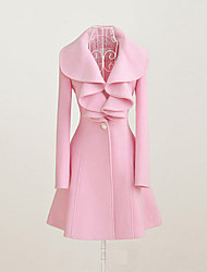 Yoki Women's Sheath Mid-Long Coat