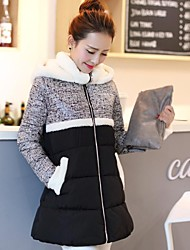 Women's Clothing Dazhongjie Bodycon Hoodies Down & Parka with Fur collar