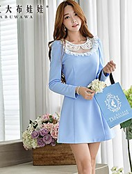 Women's Blue Dress , Cute Sleeveless