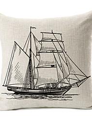 veleiro padrão de algodão / linho fronha decorativo