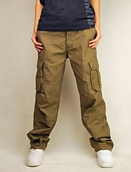 Men's Multiple Pockets Loose Enlarge Casual Pants