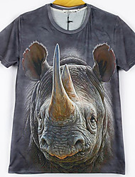 Blueberry Men's Fashion 3D Print Short Tshirt 2088
