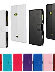 Para Capinha Nokia Carteira / Porta-Cartão / Com Suporte Capinha Corpo Inteiro Capinha Cor Única Rígida Couro PU Nokia Nokia Lumia 625