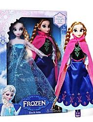 """Elsa brilho princesa e anna vocal boneca olaf boneco de neve (2pcs 14 """")"""