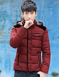moda casaco acolchoado dos homens encapuzados