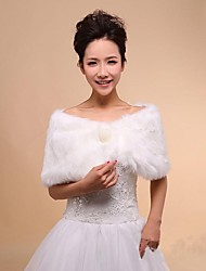 Wedding Wraps Faux Fur Warm Wedding Shawls With Pearls