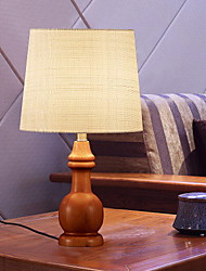 lámpara de mesa de estilo simple de madera