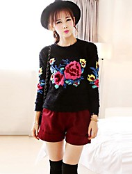 Women's Long Sleeve Knitted Pullover Jumper Loose Sweater