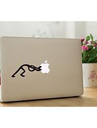skinat extraíble empuje lindo DIY el logotipo de utilizar la etiqueta portátil de cabeza para usted tableta computadora y MacBook Air de 10 * 10