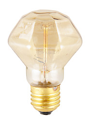 40W Industria Retro Style Bombilla incandescente, Diamond Shape