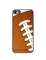 Personalized Phone Case - Rugby Design Metal Case for iPhone 5/5S