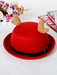 Christmas Unisex Bowler Hats with Antlers Classic Billycock