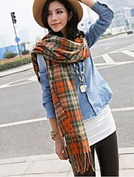 Women's Winter Warm Imitation Wool Grid  Scarves