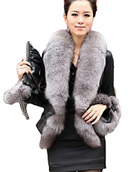 XT Fox Fur Coat_75 (Black)