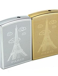Personalized Engraving Eiffel Tower Pattern Metal Electronic Lighter