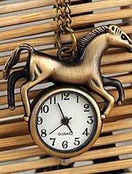 unisex stile cavallo collana di quarzo analogico lega Watch (bronzo)