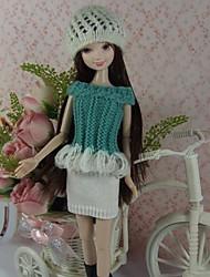 Festa e Noite Vestidos Para Barbie Doll Branco / Verde Claro Vestidos