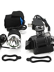 Headlamps Bike Lights Front Bike Light LED 1800 Lumens 3 Mode Cree XM-L T6 18650 Impact Resistant Rechargeable Waterproof