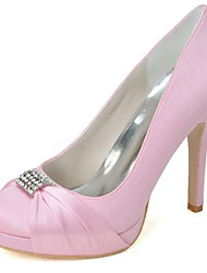 Wedding Shoes - Saltos - Saltos / Arrendondado - Preto / Azul / Rosa / Roxo / Vermelho / Marfim / Branco / Prateado - Feminino -Casamento