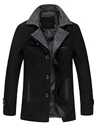menfashion Zuolong manches longues manteau occasionnel