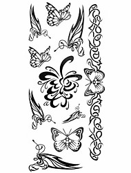 1pc Women Butterfly Bracelet Waterproof Tattoo Pattern Temporary Tattoos Sticker for Body Art(18.5cm*8.5cm)